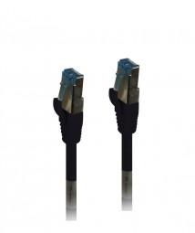 Patchkabel RJ45, CAT6A 500Mhz, 0.5m, schwarz, S-STP(S/FTP),PUR(Außen/Industrie), Synergy 21