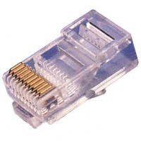 TP-Stecker TP, ungeschirmt, RJ-45, 100-Pack, für Flachkabel