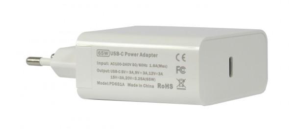 ALLNET Ersatznetzteil QC USB-C PD Netzteil Power Supply65Watt 1x USB Typ-A, 1x USB Typ-C**EU PLUG**