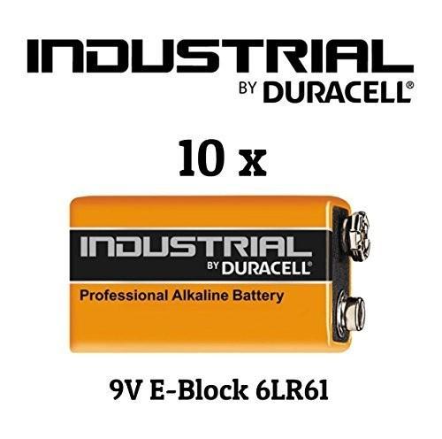 Batterien 9V-Block *Duracell* Industrial - 10er Pack