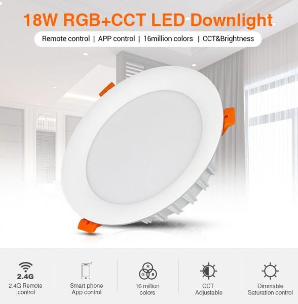 Synergy 21 LED Panel Rund 18W RGB-WW mit Funk und WLAN *Milight/Miboxer*