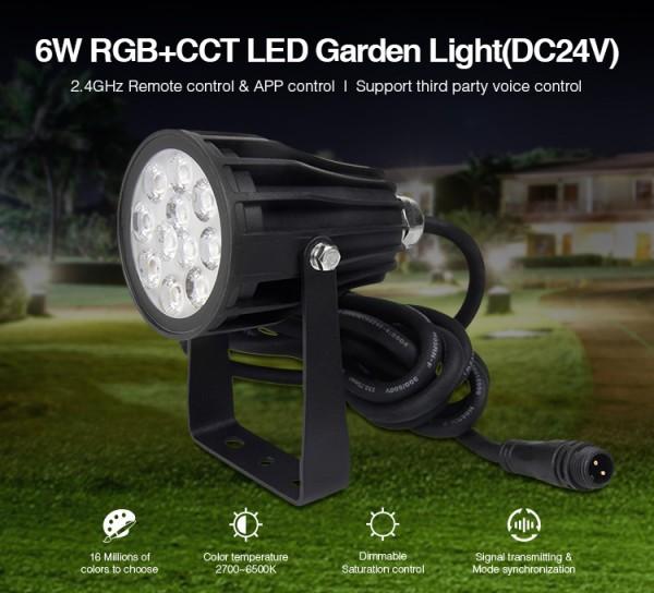 Synergy 21 LED Garten Lampe 6W RGB-WW mit Funk und WLAN IP65 230V *Milight/Miboxer*