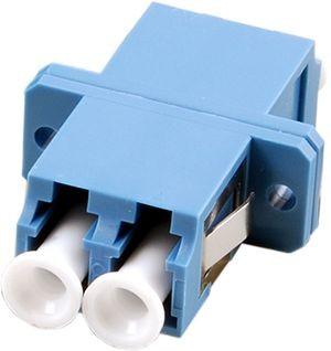 LWL-Kupplung, LC-Buchse/LC-Buchse, 50/125u Multimode, duplex, PVC, Keramikhülse, OM3
