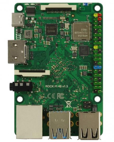 Rock Pi 4 Model A 4GB V1.4 (ohne WLAN/Bluetooth/PoE)