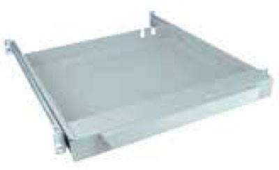 Knürr zub.Tastaturschubfach, 1HE, ohne Tastatur, Lichtgrau, t565-750mm