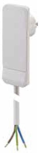 Bachmann Flat Plug Flachstecker, Verlängerung, 1xDosen(CEE7)->Stecker(CEE7), 1,5m, weiß,