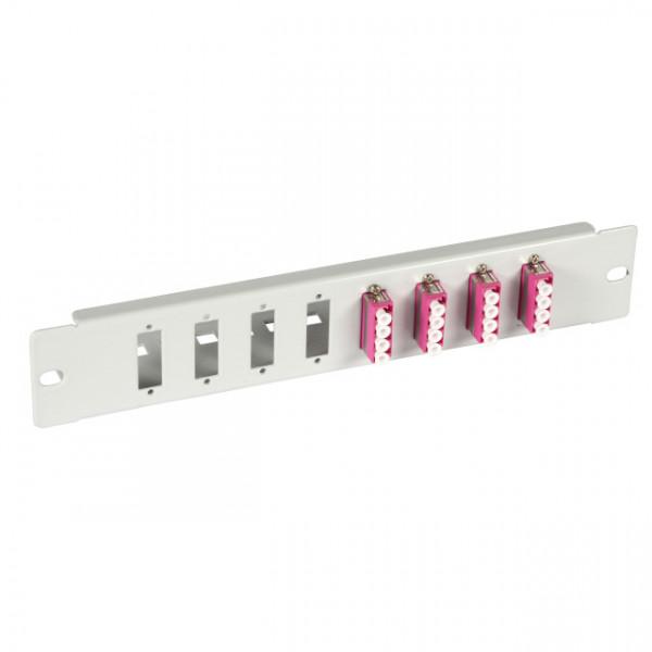 """LWL-Frontblende 10"""", 8x(SC-Duplex/LC-4fach), ohne Kupplung"""