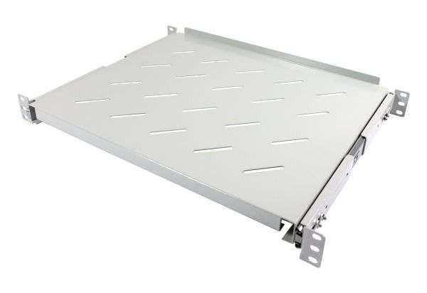 """ALLNET 19""""zbh. Fachboden ausziehbar, für 1200mm Schrank tiefe, Lichtgrau, t950-1050mm,"""