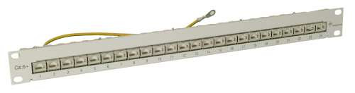 "Patch Panel 24xTP, CAT6A, 500Mhz, 19"", Schwarz, Telegärtner,"