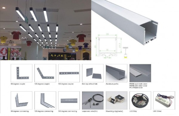 Synergy 21 LED U-Profil 200cm, ALU018-R