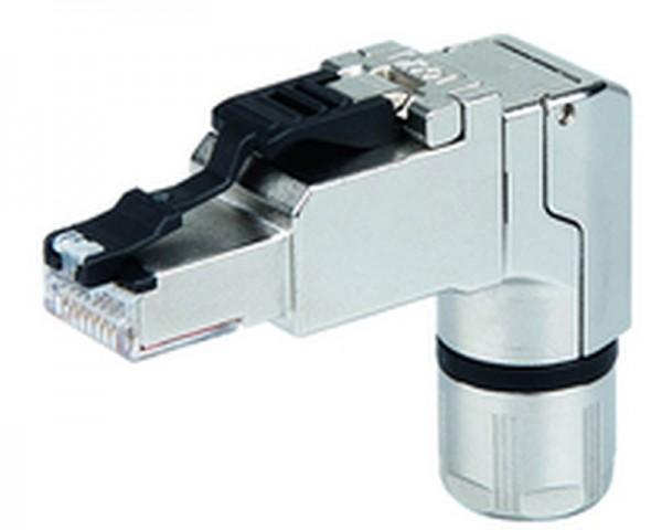 Telegärtner Stecker, TP/RJ45, Feldkonfektionierbar, CAT6A, MFP8-4x90, T568A,10-Pack, gewinkelt,