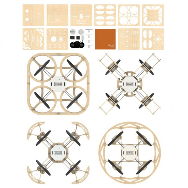 Airwood 4-in-1 Box Holz Drohne / Wooden Drone (inkl. Cubee, Ninja, Sophon & Taiji)