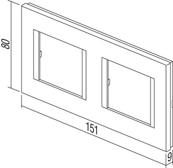 TEM Serie Modul Rahmen OL COVER PLATE LINE2x2M PW