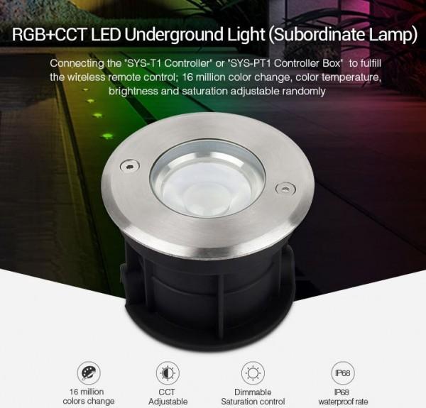 Synergy 21 LED Subordinate Bodeneinbaustrahler 5W RGB+CCT mit Funk und WLAN *MiLight*