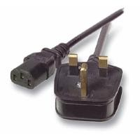 Netzkabel 230V UK-Stecker/Kaltgeräte IEC-C13(Buchse), 2m, Black