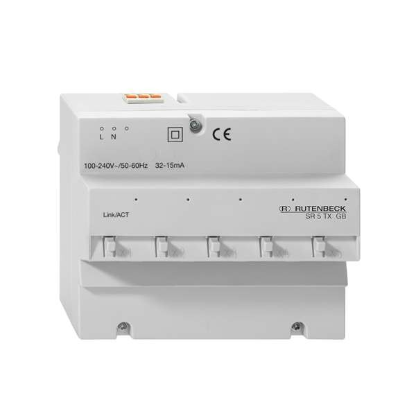 Rutenbeck Switch für REG/DIN-Montage, 5x 10/100/1000M(4x RJ45), SR 5TX GB