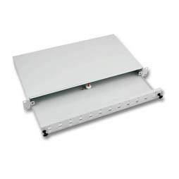 """LWL-Patchpanel für 24xLC-Duplex-Buchsen, 19""""/1HE, ohne LC-Kupplungen, ausziehbar,"""
