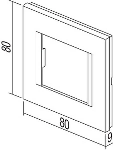 TEM Serie Modul Rahmen OL COVER PLATE LINE2M AT