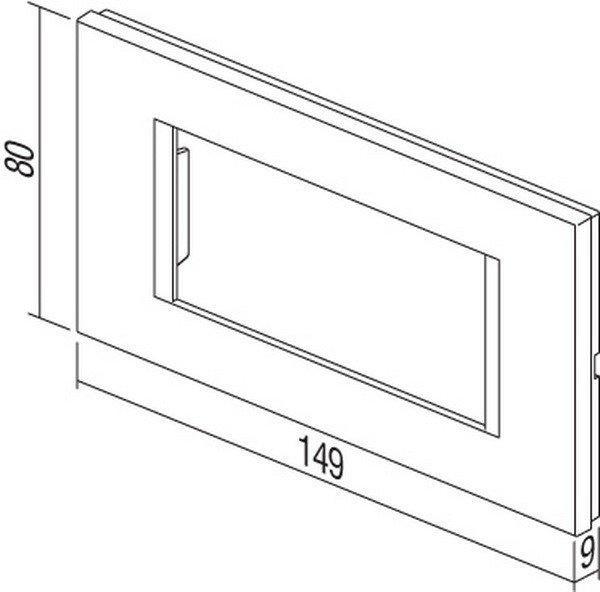 TEM Serie Modul Rahmen OL COVER PLATE LINE4M AT