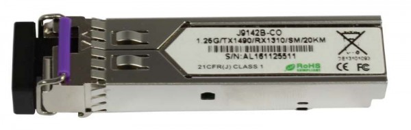 GBIC-Mini, SFP, 1000, WDM/LC, Tx1490nm/Rx1310nm, 9u, für HP, 20Km, HP-Code,