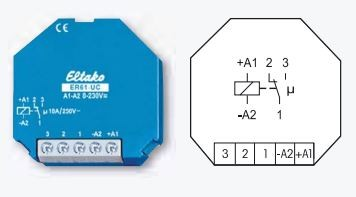 Eltako ER61-UC Schaltrelais 8-230v Steuerspannung