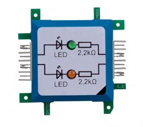 ALLNET Brick'R'knowledge LED dual grün & orange Signal durchverbunden