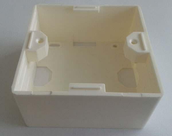 Keystone, Modulträger; Aufputzgehäuse 80x80, Reinweiss, Syner