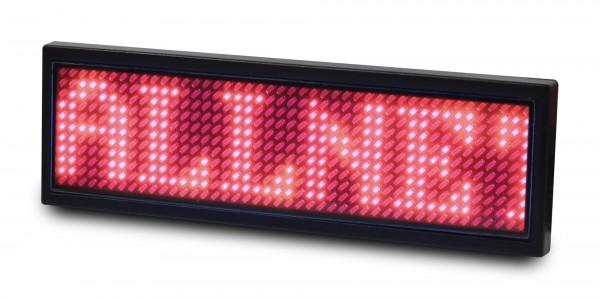 ALLNET Namensschild elektronisch programmierbar Seriell - Farbe rot
