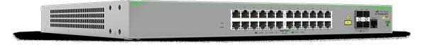 ATI Switch, 10/100Mbit, 24xTP POE+, 1000Mbit, 4xSFP-Slot(2x for Stacking),