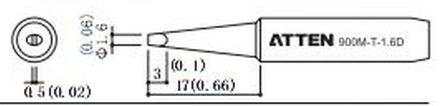 ATTEN T900-1.6D / Ersatzlötspitze 1,6mm