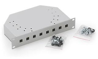 """Triton 10""""Wandgehäuse, zbh. LWL-Gehäuse, 8x SC-simplex/LC-Duplex ausbrüche, 1HE, Lichtgrau,"""