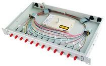 """Telegärtner LWL, Patchpanel Spleisbox,19"""",24xLC-Duplex, 50/125um, OM4, ausziehbar, Basis V"""