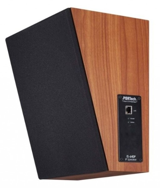 Portech VoIP SIP IP Speaker IS-640P PoE Wallmount Wood