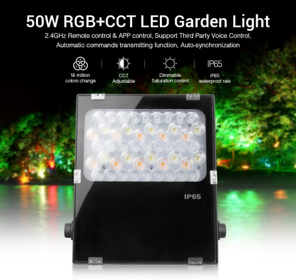 Synergy 21 LED Flächenstrahler 50W RGB-WW (RGB-CCT) IP65 230V *Milight/Miboxer*