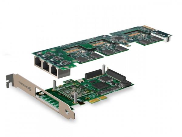Sangoma 0xBRI/S0 PCIe Basiskarte + Remora + Echo Unterdrücku