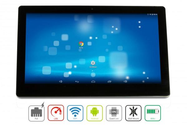 ALLNET Display Tablet 10 Zoll PoE, Android 5.1, 16GB, Wlan, RJ45, USB, Wandmontage, ohne Mikrofon