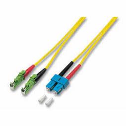 LWL-2-Faser-Patchk. 10mtr.SC-E2000(APC8Grad Schrägs), 9/125,