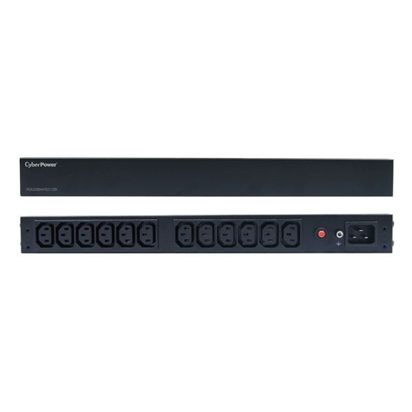 CyberPower PDU, BASIC, 230V/16A, 1HE, 12x C13 Ausgang, 1xC20 Eingang, Promo vom 10-30.6.2020, gültig nur im Dach(Deutschland,Österreich und Schweiz)
