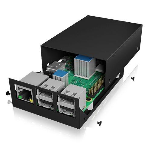 ICY Box Schutzgehäuse für Raspberry Pi® 2 und 3, schwarz, IB-RP104-B,