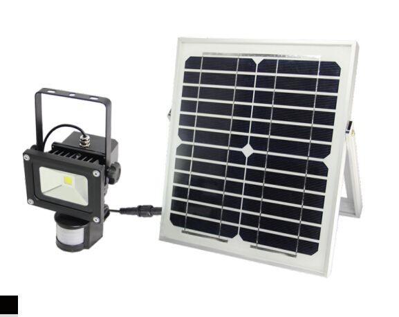 Synergy 21 LED Spot Outdoor Baustrahler 10W AKKU Bewegungsmelder (PIR) schwarz
