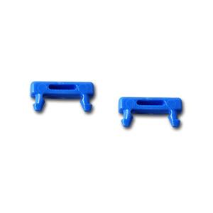 Patchkabel RJ45, DC, zbh. Steckermarkierungsclip, blau, 100-P