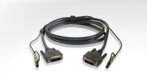 Aten Verbindungskabel DVI, 1, 8m, USB, Audio