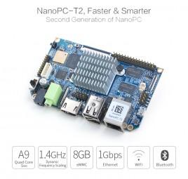 FriendlyELEC NanoPC-T2 - QuadCore Samsung S5P4418 Cortex-A9, 400Mhz-1,4Ghz, 8gb EMMC