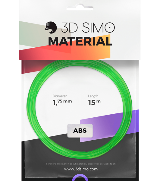 3Dsimo Filament ABS Transparent grün, lila & gelb
