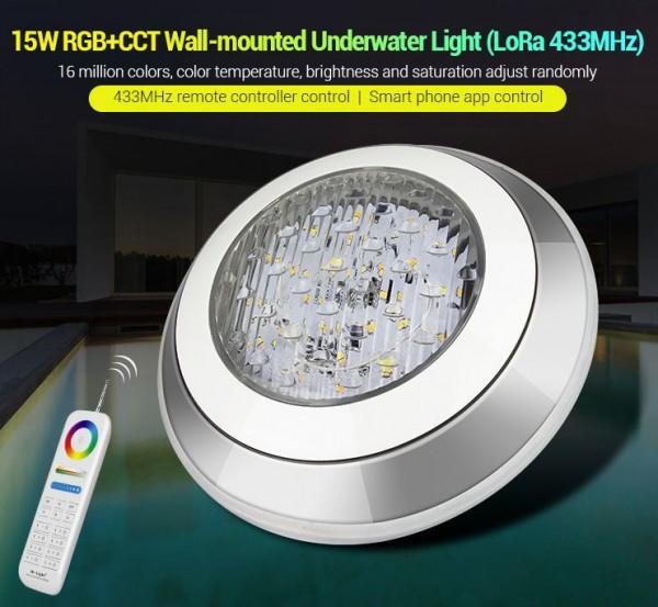 Synergy 21 LED LoRa (433MHZ) Poolleuchte 15W RGB+CCT *Milight/Miboxer*