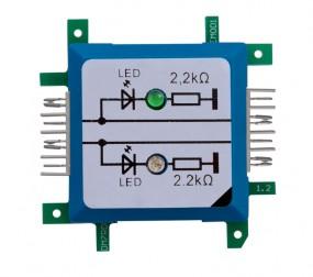 ALLNET Brick'R'knowledge LED dual auf Masse grün & blau Signal durchverbunden