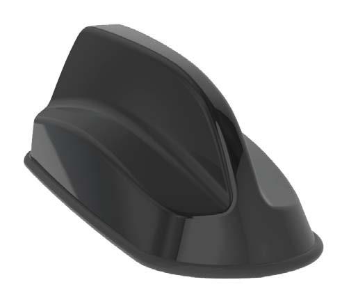 Sierra Wireless 3in1 SharkFin Antenna - 2xLTE, GNSS, Bolt Mount, 4m, Black