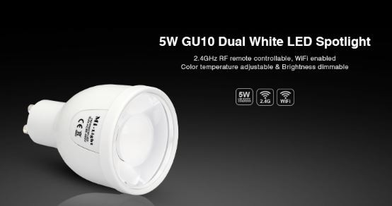 Synergy 21 LED Retrofit GU10 5W dual white (CCT) Lampe mit Funk *MiLight*
