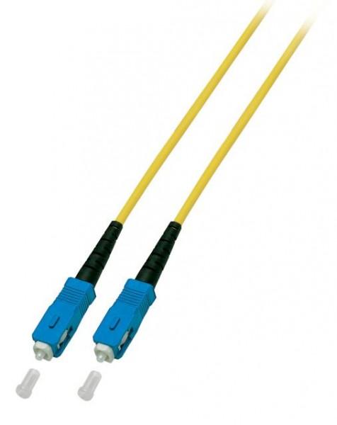 LWL-1-Faser-Patchk. 2mtr.SC-SC, 9/125um, Achtung Simplex!, 3mm