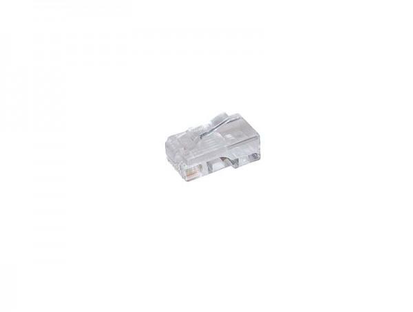 Kabel TK RJ45-Stecker, 8P4C,100-Pack, für Flachkabel, Achtung: 4 mittlere PINs nur Belegt!